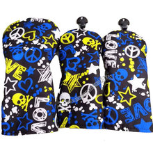 New Unisex Golf headcover high quality PU Skull wood head Cover 1 3.5 Multicolor Clubs Cooyute Free shipping