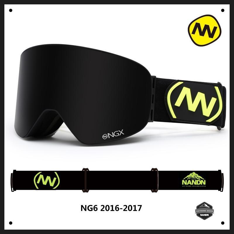 NANDN Winter Professional Ski Goggles Anti fog Double Lens Uv400 Skiing Snowboard Snow Motorcross Goggles Eyewear