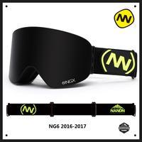 NANDN Winter Professional Ski Goggles Anti fog Double Lens Uv400 Skiing Snowboard Snow Motorcross Goggles Eyewear 10 Colors NG6