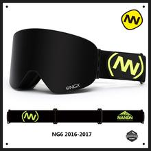 NANDN Winter Professional Ski Goggles Anti-fog Double Lens Uv400 Skiing Snowboard Snow Motorcross Goggles Eyewear 10 Colors NG6