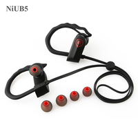 NiUB5 Bluetooth Headset Sport With Microphone Handsfree Audifonos Earphone With Soft Earhook Wireless Bluetooth Headset