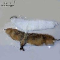 Linhaoshengyue литий белого и серого цвета с лисьим мехом большого размера, Платки