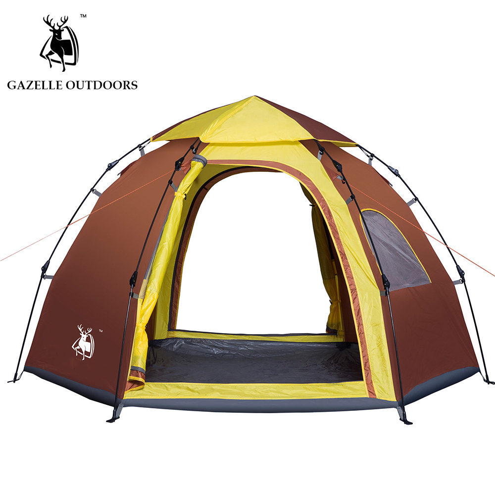 OUTDOORS throw tent outdoor automatic tents throwing pop up waterproof camping hiking tent waterproof 5-6 people outdoor camping hiking automatic camping tent 4person double layer family tent sun shelter gazebo beach tent awning tourist tent