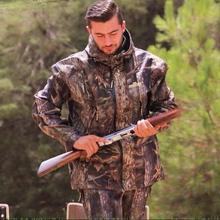 Одежда для охоты водонепроницаемая, камуфляжный бионический открытый, альпинистский рыболовный комплект военная куртка+ брюки