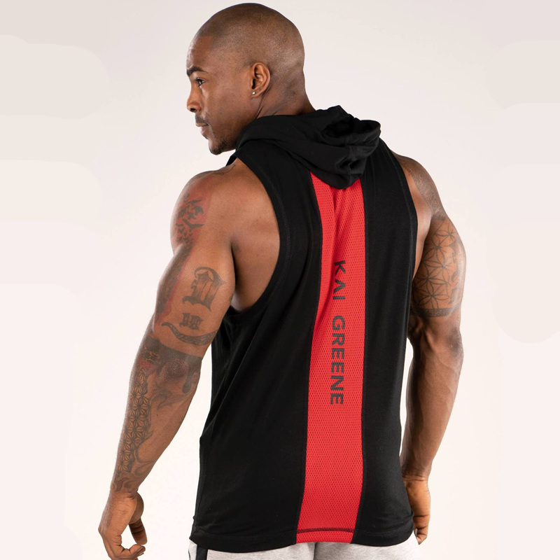 Mens Bodybuilding Hooded   Tank     Top   Cotton sleeveless Vest Summer Gyms Fitness Workout Casual Fashion Brand   Tops   Crossfit Clothing