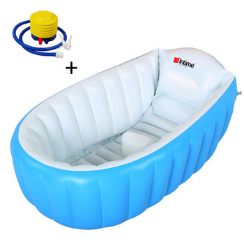 Bath Tub Seat | New 1pc Eco-Friendly Inflatable Bathtub Bathing Tub Bucket With Soft Cushion Central Seat With Inflator Pump For Babies Children