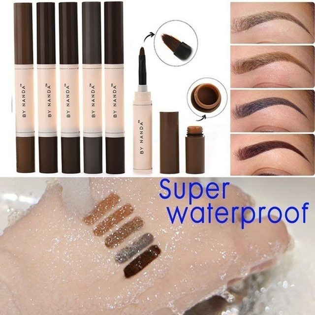 Eyebrow Enhancers Eyes Makeup Professional Eye Brow Dye Cream Pencil Long-lasting Waterproof Brown Tint Paint Henna Eyebrows 3