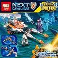 Lepin 14027 nexus knights building blocks set gemelo del lance jouster niños juguetes de los ladrillos de regalo compatible con 70348