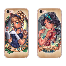 For Apple iPhone 5 5S SE 6 6S 7 8 Plus X XS MAX XR Phone case Soft Silicone TPU case Back Cover Coque Tattoo Princess Sexy цена и фото