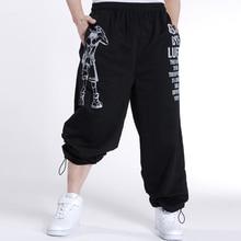 2016 Случайные Мужские Бегунов Печатных Мешковатые Хип-Хоп Мода мужчины Jogger Брюки на открытом воздухе Штаны Мужчины Брюки Pantalon Homme 5XL A10