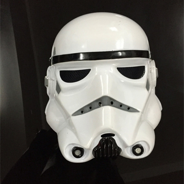 Star Wars helmet cosplay mask white & black