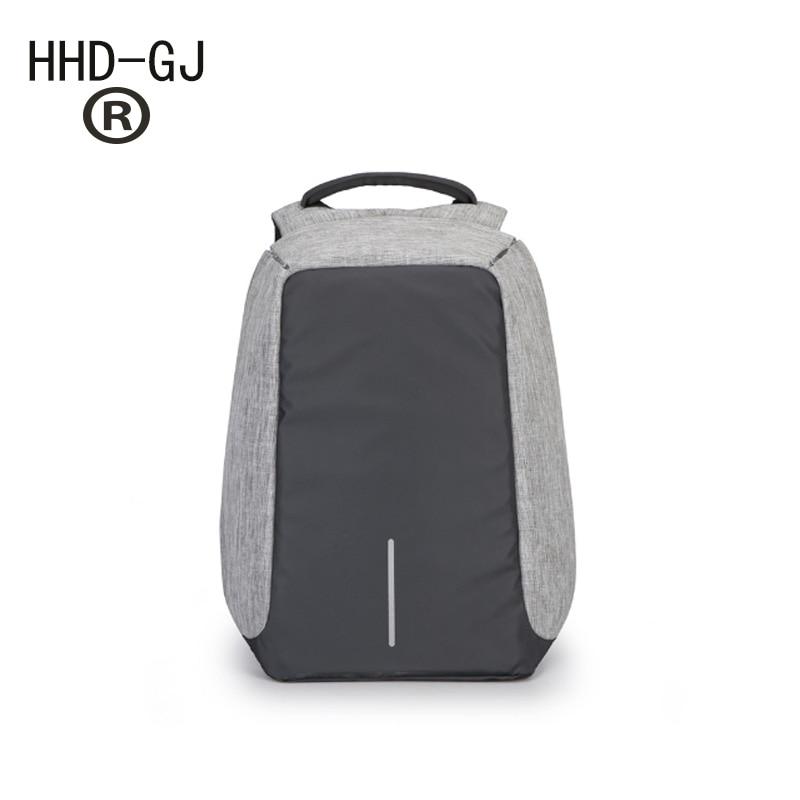 HHD-GJ Brand Anti-theft design USB Charging Backpack Men Women Backpack school bag 14- 15.6 Laptop bag Backpack