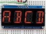 Outils de développement d'affichage alphanumérique à quatre chiffres, rouge 1911 avec sac à dos I2C, 0.54