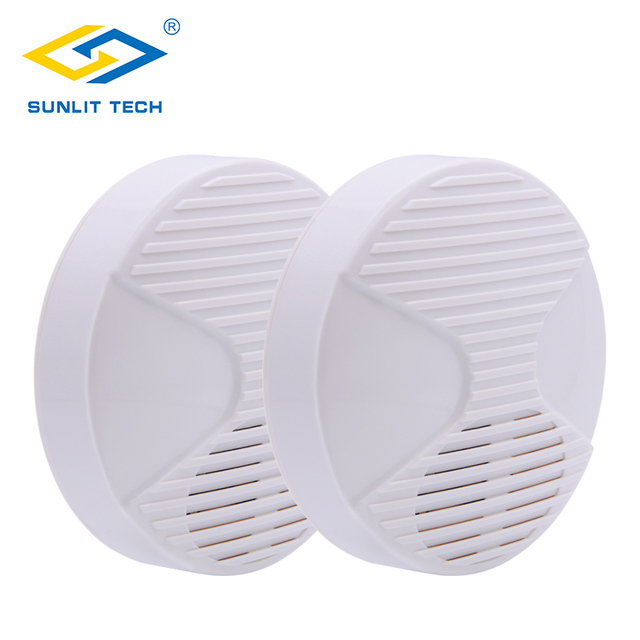 2pcs/Lot 12V Mini Indoor Wired Horn Siren High Quality ABS Housing Wired Hooter Home Security Sound Alarm Strobe System 110dB