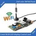HD-D10 lintel assíncrona 4 * HUB75 interface de dados cor cheia do RGB WI-FI levou exibição cartão de controle