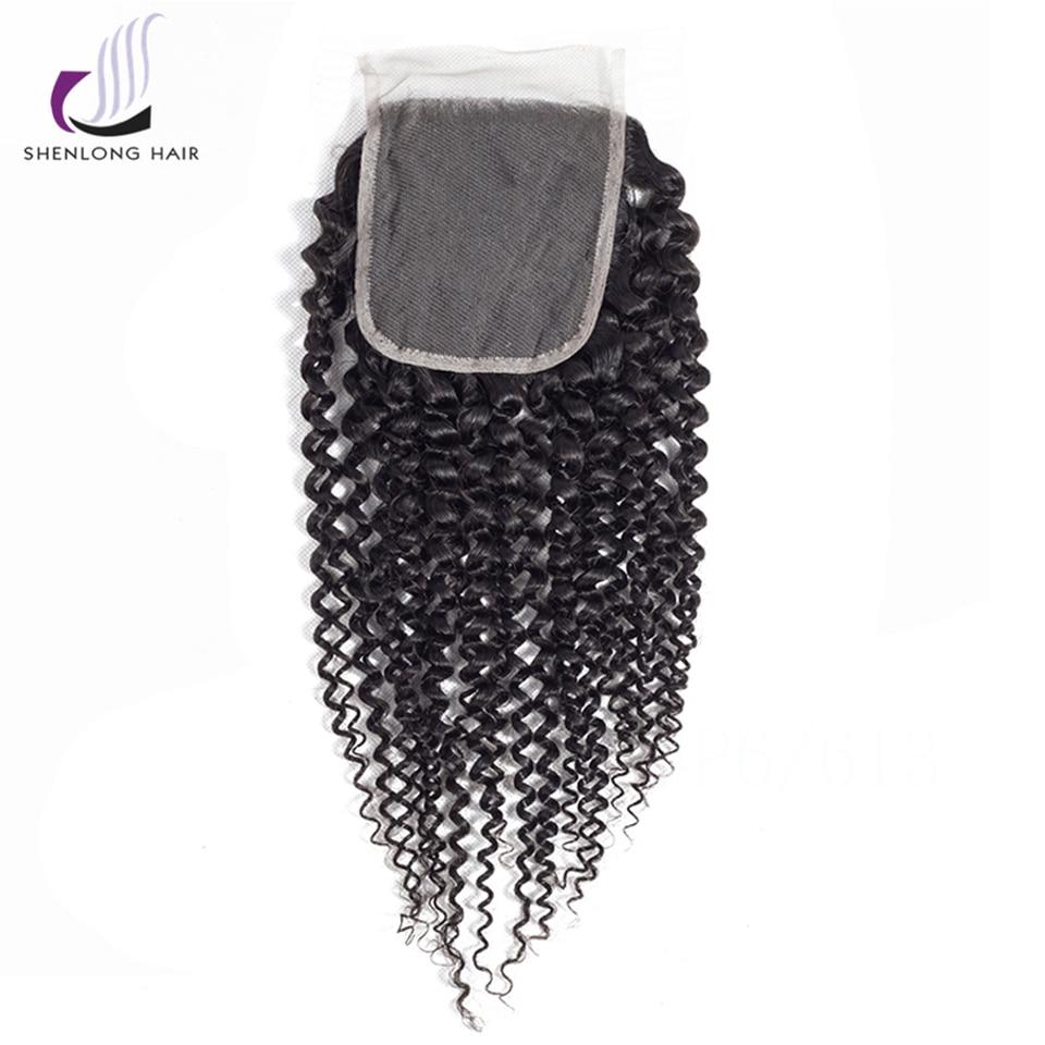 SHENLONGHAI Βραζιλιάνικο Kinky Curly μαλλιά Lace - Ανθρώπινα μαλλιά (για μαύρο) - Φωτογραφία 2