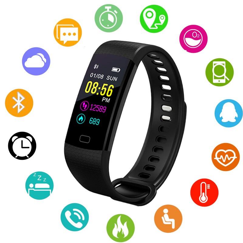 BANGWEI pulsera inteligente reloj de los hombres del Deporte Fitness podómetro ritmo cardíaco Monitor inteligente Smart Band + caja