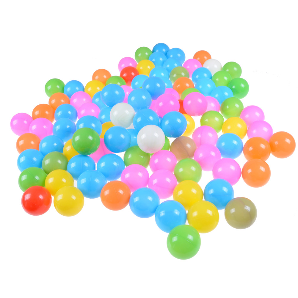 1Set/100Pcs 7cm Eco-Friendly Colorful Soft Plastic Water Pool Ocean Wave Ball Baby Funny ...