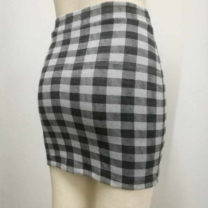 ba8fe48a28 1 pc primavera y verano de las mujeres falda de cintura alta Faldas lápiz  elástico Slim