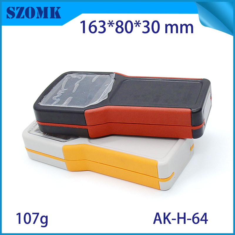 10 pieces 163 80 30mm plastic enclosure for pcb lcd handheld distribution box 4 AAA battery