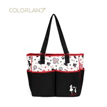 Colorland large-capacity multi-function bag hand shoulder diagonal oblique supply Mummy waterproof baby diaper care