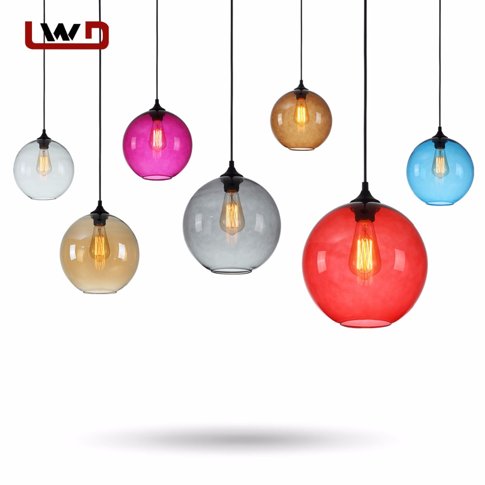 Modern Colorful Pendant Lamps Restaurant Coffee Bedroom Pendant Lights Stained Glass Lamp Light Modern Lighting Pendant Lights lamps fashion pendant light brief modern iron american living room lights restaurant lamp personalized lighting rustic
