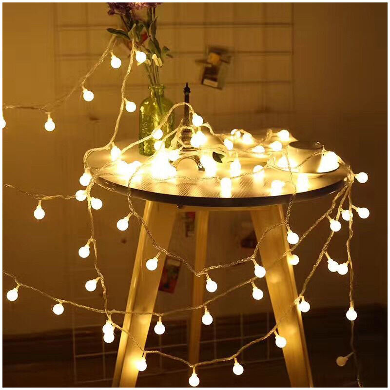 LBTFA 1M 3M Fairy Lights Garland LED Ball Led Lights Decoration String Lights New Year Christmas Lights Outdoor Battery Flash