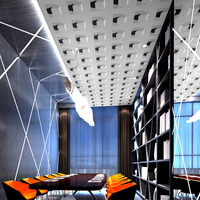 Ceiling wallpaper 3D solid white square grid living room bedroom modern ceiling roof ceiling wallpaper