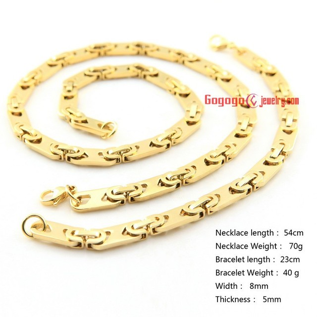 Free Shipping China Whole Gold Plated Desi Gual And Bracelet Jewelry Men Stainless Steel