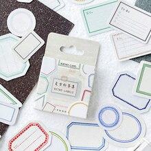 46 Pcs/box vintage labels paper sticker DIY decoration stickers diary photo album scrapbooking planner label