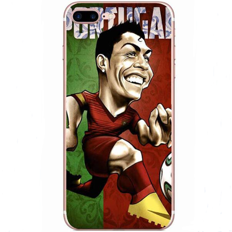 reputable site bd534 eff95 US $1.29  Phone Cases Football Soccer Stars Players Silicon Case  Transparent Clear Cell Phone Case For iphone 5 5s 5C SE 6 6s Plus 6Plus 7  on ...