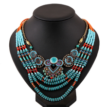 2016 Latest Jewelry Fashion New Arrival Pendants & Necklaces Bohemia style Big Luxury Statement Necklace for Women