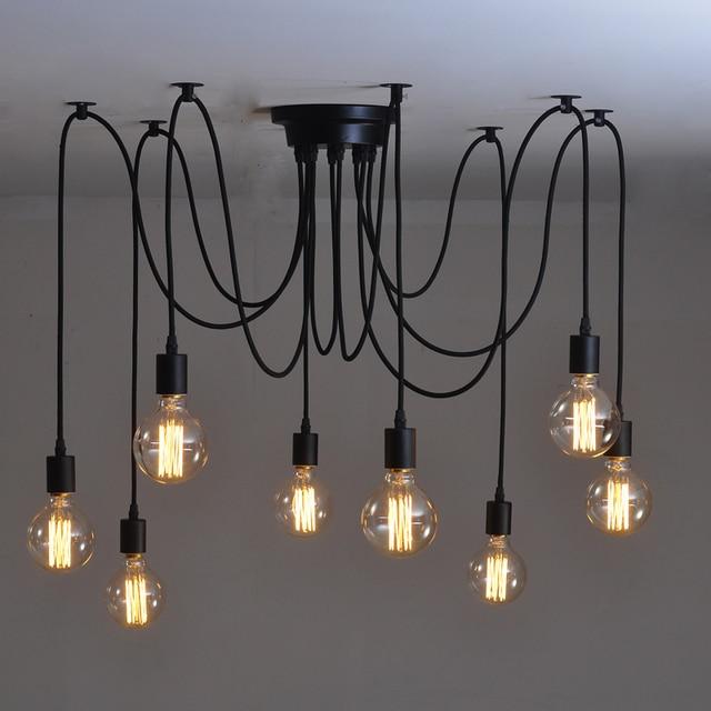 Free shipping Loft Vintage 6/8/10/14 heads bulb Edison Modern brief  pendant light