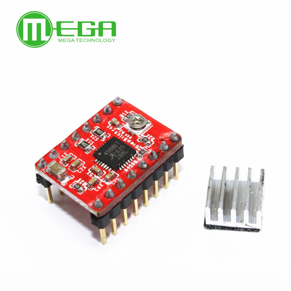 Stepper Driver A4988 Motor Module 1pcs Heat Sink Where To Buy Integrated Circuits Red In From Electronic Components Supplies On