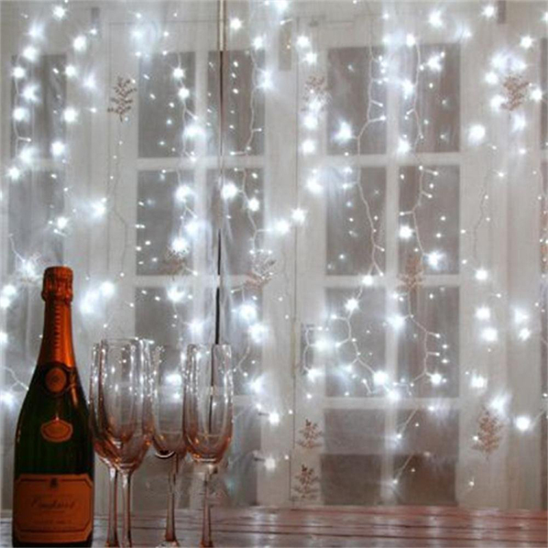 10FT*10FT 300LED Christmas Fairy Lights Decoration LED Copper Wire LED  Curtain String Light Decoration 8 Models Scintillation In LED String From  Lights ...