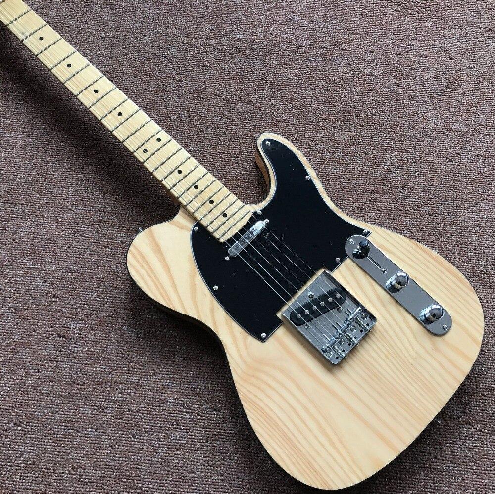 Nouveau standard personnalisé, guitare électrique, touche en érable couleur bois naturel gitaar, guitare de haute qualité