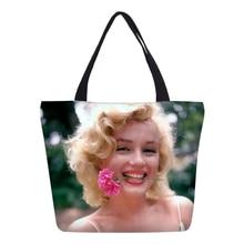 bdaec52681 VEEVANV Sexy goddess Album Marilyn Monroe Handbag Women Tote Bag Vintage  Shoulder Shopping picnic Bag Travel