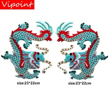 Embroidery Chinese dragon patches for jackets,traditional badges jeans,appliques A1