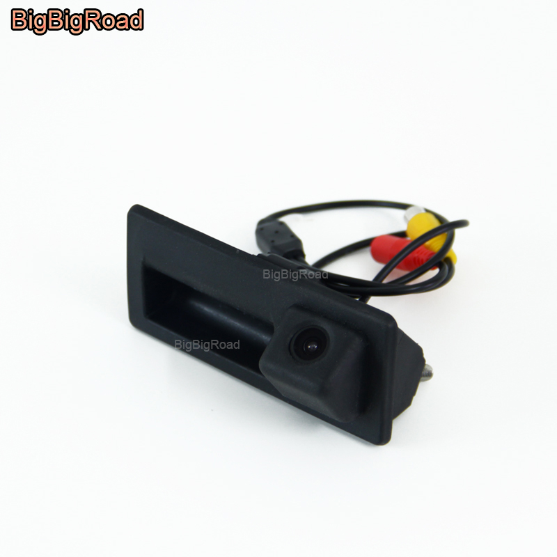 BigBigRoad Car Trunk Handle Rear View Backup Camera For Porsche Cayenne 92A For Volkswagen  Jetta / Vento MK6 A6 5C6 2011~2018