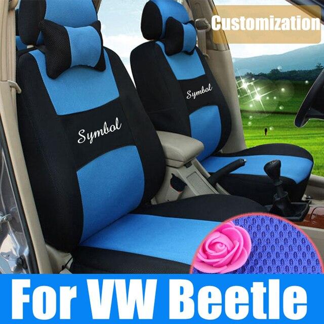 Asientos de ajuste personalizado para Volkswagen beetle car seat covers malla soporte ventilada cubierta de asiento de coche cojín del asiento de coche juegos airbag