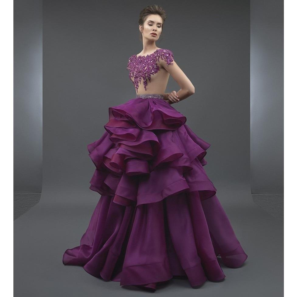 Online Shop Trendy 2018 Christmas Dress Purple Long Ruffles Ball ...