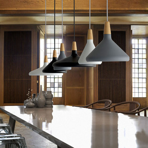 Image 3 - Modern Simple pendant lamps E27 Aluminum wood pendant lights italian lamp Home restaurant counter decoration lighting