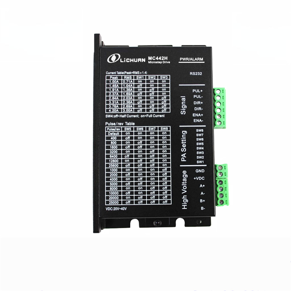 Hybrid Stepping DSP Digital Stepping Motor Driver 4.2A MC442 DC Encoder 2 Phase Driver 42/57 Series Motor 3A smdr01 thb7128 3a segment type two phase hybrid stepping motor drives 128 segment 42 60