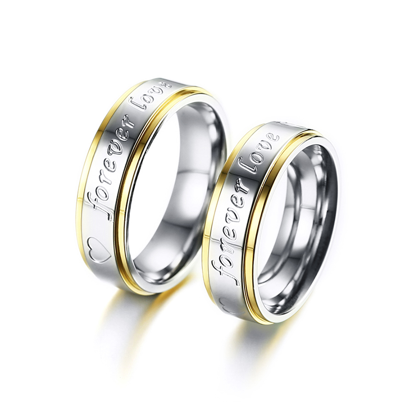 Meaeguet 6mm Wide Romantic Wedding Rings For Lover