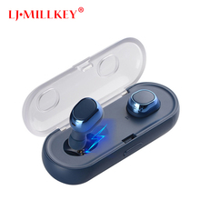 Bluetooth Earphone TWS True Wireless Earbuds Bluetooth 4.1 Stereo Earphones with Charger Box Portable LJ-MILLKEY YZ123
