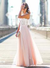 فستان ماكسي أنيق من الشيفون مناسب للحفلات