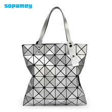 2017 Women Shoulder Bags Bao Bag Female Folded Geometric Women Messenger Bags Fashion Casual Tote Women Handbag Mochila 10 Color