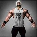 Animais Ginásio de Fitness Top Homens Tanque Ouros Longarina Muscular Musculação Camisa Colete de Treino Algodão Esporte Camisola Plus Size Roupas