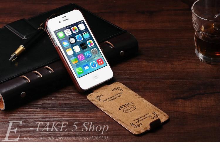 Pokrowiec case dla iphone 4 4s pu skóra pokrywa telefonu torba coque dla apple iphone 4s case luksusowe biznes styl tomkas 3