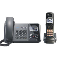 DECT 6 0 Two Land Line Telephones Cordless Phone With Answering System Call ID Redial Voice